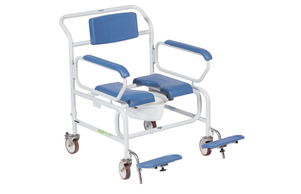 Commode / Shower Chair: XXL Wheeled (325kg) | Direct Healthcare Group