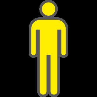 Man geel